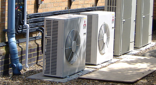 Mitsubishi's range of commercial heat pumps are hard to beat